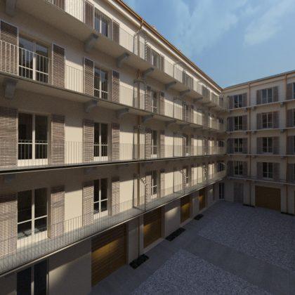 Torino_Via Accademia Albertina 38_Render di progetto